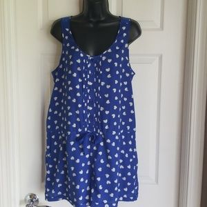 Candies Romper with hearts. Super cute size large.